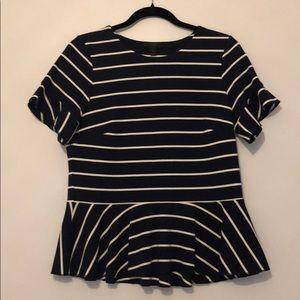 Stripped peplum t-shirt
